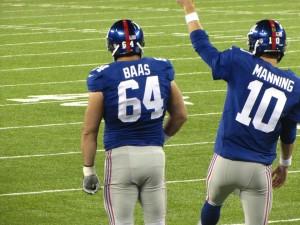 Manning Baas pregame warmups
