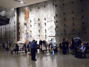 Slurry wall and iconic Last Column with visitors