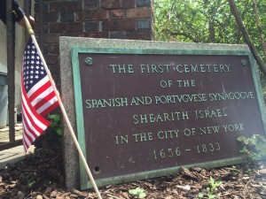 the first Shearith Israel Cemetery
