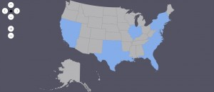 States visited as of July 2014