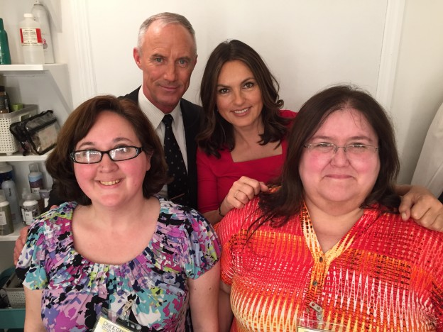 with Mariska Hargitay and Bobby Burke. Photo credit: Dina Sliwiak