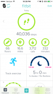40,000 steps and 16.6 miles