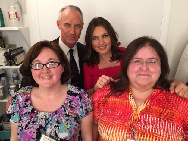 with Mariska Hargitay and Bobby Burke. Photo credit: Dina Sliwiak